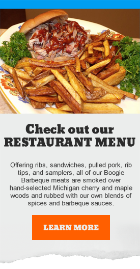 Boogie Barbeque Restaurant Menu